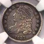 1833 CAPPED BUST DIME 10C   NGC XF DETAIL  EF     EARLY CERTIFIED COIN