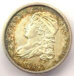 1828 CAPPED BUST DIME 10C COIN   CERTIFIED ICG AU55    DATE   $800 VALUE