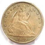 1875 S SEATED LIBERTY HALF DOLLAR 50C   PCGS UNCIRCULATED DETAILS  MS BU UNC