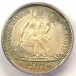 1874 ARROWS SEATED LIBERTY DIME 10C COIN   CERTIFIED ICG MS63   $923 VALUE