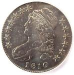 1810 CAPPED BUST HALF DOLLAR 50C O 104A   ICG XF40 DETAILS  EF40     COIN