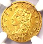 1834 CLASSIC GOLD QUARTER EAGLE $2.50   NGC XF DETAILS  EF     COIN