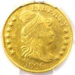 1806 CAPPED BUST GOLD HALF EAGLE $5   PCGS VF DETAILS    GOLD COIN