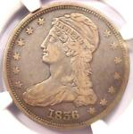 1836 REEDED EDGE CAPPED BUST HALF DOLLAR 50C COIN   NGC VF20    KEY DATE