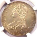 1836 REEDED EDGE CAPPED BUST HALF DOLLAR 50C COIN   NGC AU DETAILS   KEY DATE