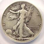 1921 D WALKING LIBERTY HALF DOLLAR 50C   ANACS F12 DETAILS    CERTIFIED COIN