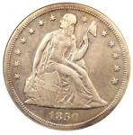 1850 O SEATED LIBERTY SILVER DOLLAR $1   ANACS XF45 DETAILS    DATE COIN