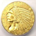 1914 INDIAN GOLD HALF EAGLE $5 COIN   ICG MS63    IN MS63   $1 780 VALUE