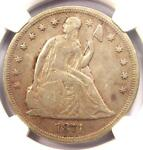 1871 SEATED LIBERTY SILVER DOLLAR $1   CERTIFIED NGC XF DETAIL    DATE COIN
