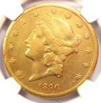 1890 CC LIBERTY GOLD DOUBLE EAGLE $20   NGC XF DETAILS  EF    CARSON CITY COIN