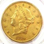 1890 CC LIBERTY GOLD DOUBLE EAGLE $20   PCGS XF DETAILS  EF    CARSON CITY COIN