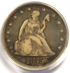 1875 CC TWENTY CENT COIN 20C  CARSON CITY    CERTIFIED PCGS F15   $500 VALUE