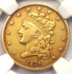 1834 CLASSIC GOLD HALF EAGLE $5   NGC VF30    CERTIFIED GOLD COIN
