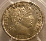 UNCIRCULATED 1897 S BARBER DIME PCGS MS 63
