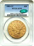 1883 CC $20 PCGS/CAC AU53   POPULAR &  CARSON CITY GOLD