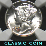 1939 SILVER MERCURY DIME 10C NGC MS66 NICE COIN FREE S/H