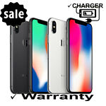 "AT&T Apple | iPhone X | 5.8"" 64GB 256GB Space Gray Silver Cricket Straight Talk"