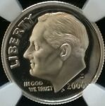 2006 S NGC SILVER ROOSEVELT DIME PF69 ULTRA CAMEO FLAG LABEL