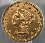 1862 P GOLD $2.50 QUARTER EAGLE LIBERTY HEAD ANACS AU50 CIVIL WAR DATE