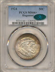 1924 HUGUENOT COMMEMORATIVE 50C MS66 PCGS CAC