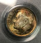 MONSTER TONING BRILLIANT UNCIRCULATED   1951 P ROOSEVELT DIME PCGS MS65  1440