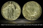 1927 S STANDING LIBERTY QUARTER DOLLAR PCGS XF45 EXCELLENT EXAMPLE KEY DATE 25C