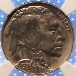 1934 P BUFFALO NICKEL NGC MS63 TOUGER DATE LUSTROUS AND ORIGINAL CLASSIC