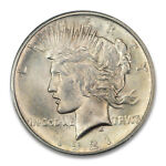 1921 $1 PEACE DOLLAR   TYPE 1 HIGH RELIEF PCGS MS64 2264 7