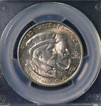 1924 50C HUGUENOT COMMEMORATIVE HALF DOLLAR UNCIRCULATED PCGS MS 66 25694906