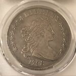 1798 $1 DRAPED BUST DOLLAR LARGE EAGLE PCGS VF35 ORIGINAL & NICE FOR THE GRADE