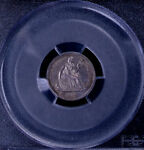 1862 H10C SEATED LIBERTY HALF DIME PCGS MS 62 26583042