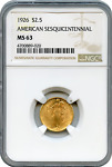1926 AMERICAN SESQUICENTENNIAL NGC MS63