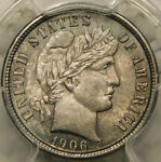 1906 D 10C BARBER/LIBERTY HEAD DIME CERTIFIED PCGS MS63