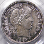 1900 O 10C BARBER/LIBERTY HEAD DIME CERTIFIED PCGS AU55 ELUSIVE ORLEANS DATE OGH
