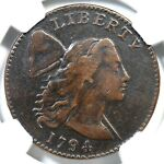 1794 S 27 R 5 NGC VF DETAILS LIBERTY CAP LARGE CENT COIN 1C