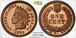 1869 1C PCGS PR 65 RB GEM PROOF PF RED BROWN INDIAN HEAD CENT COIN 600 MINTED