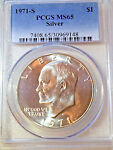 1971 S PCGS MS65 SILVER IKE DOLLAR  /  AND INSURANCE
