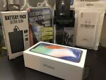 Apple iPhone X - 64GB - Silver (Unlocked) (GSM+CDMA)A1865-Factory Sealed+Gifts🎁