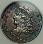 1834 CAPPED BUST SILVER HALF DIME OLD WHITE ANACS HOLDER AU 55   GORGEOUS