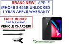 BRAND NEW iPhone 8 64GB Space Gray Verizon Unlocked AT&T T-mobile Apple Warranty