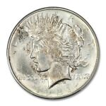 1921 $1 PEACE DOLLAR   TYPE 1 HIGH RELIEF PCGS MS65 CAC