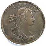 1798 S 164 R4 ANACS VF30 DETAILS DRAPED BUST LARGE CENT COIN 1C