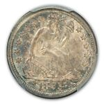 1853 10C ARROWS LIBERTY SEATED DIME PCGS MS65
