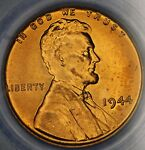 1944 LINCOLN CENT PCGS MS66RD.