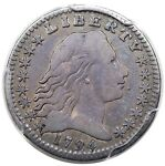 1794 FLOWING HAIR HALF DIME LM 2 PCGS F12 NICELY TONED