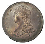 1837 50C REEDED EDGE CAPPED BUST HALF DOLLAR MS64 NGC