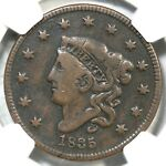 1835 N 10 R 4  NGC VG 8 MATRON OR CORONET HEAD LARGE CENT COIN 1C