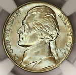 1944 D JEFFERSON WAR NICKEL NGC MS66FS SUPER MONSTER RAINBOW COLOR TONED  Y12