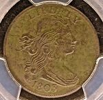 1803 DRAPED BUST 1C SMALL DATE LARGE FRACTION PCGS VF DETAILS >>>> PQ GORGEOUS