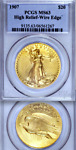 1907 HIGH RELIEF PCGS MS63 AS NICE AS THEY COME  $20 SAINT GAUDENS DOUBLE EAGLE